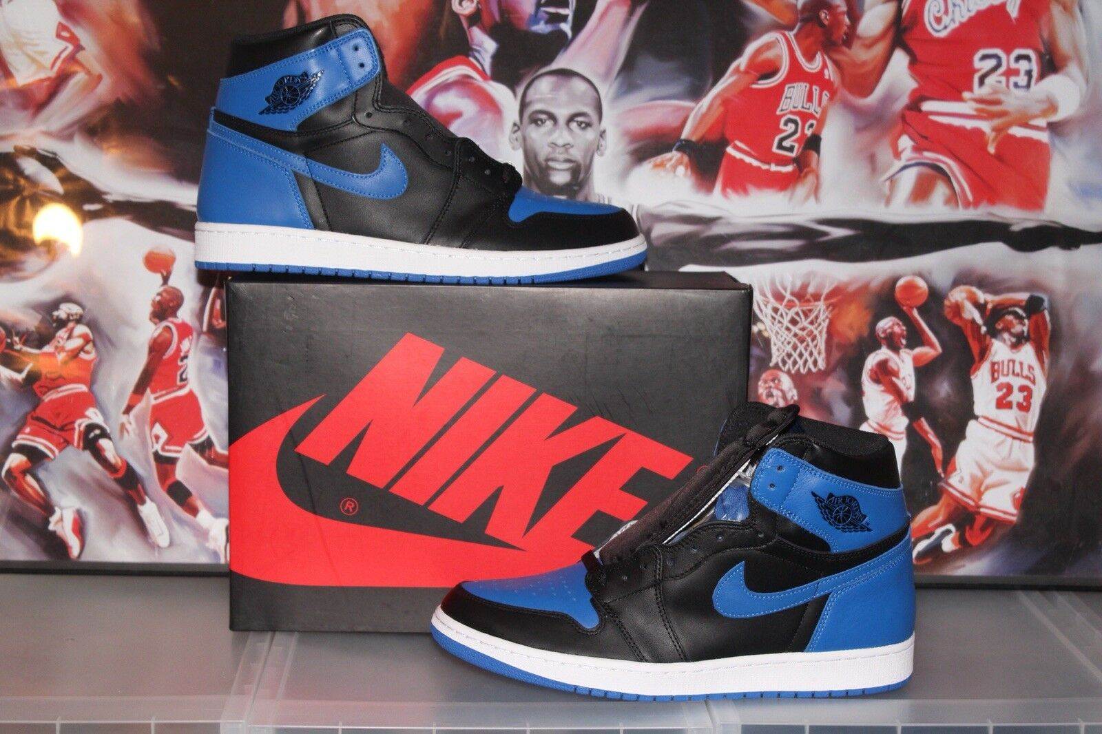 sale retailer a9c14 4ad8b New DS DS DS Nike Air Jordan 1 Retro High OG Royal Blue Moon Hand Clay