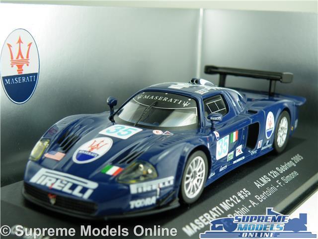 MASERATI MC12 MODEL CAR 35 ALMS ALMS ALMS 12H SEBRING 2005 1 43 SCALE IXO GTM044 BABINI K8 f53b01