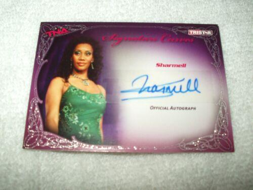 signature courbes Sharmell KA10 Tna wrestling autograph carte k.o