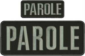 PAROLE-EMBROIDERY-PATCH-4X10-AND-2X5-HOOK-ON-BACK-BLK-GRAY