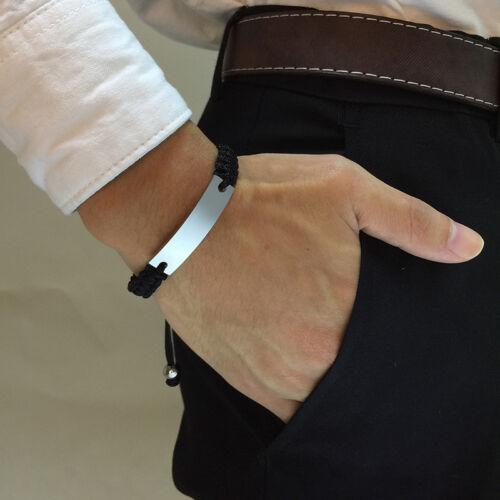 Personnalisé Tressé Corde Hommes Homme Bracelet Bracelet Personnalisé Sangle Réglable