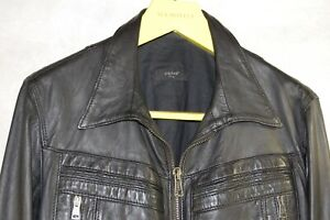 75285d047 S.W.O.R.D MADE IN ITALY MEN LAMB BLACK LEATHER BIKER RIDING JACKET ...