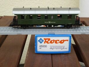 Roco-45000-Gueterzug-Gepaeckwagen-Pwghs-Roco-Club-Sondermodell-DB-Ep-3-gebraucht