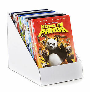 Black-or-white-cardboard-counter-top-display-stand-books-DVD-039-s-greeting-cards