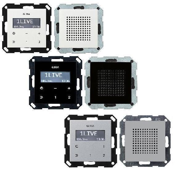 Gira Unterputz Radio RDS mit Lautsprecher System 55 Farbe wählbar