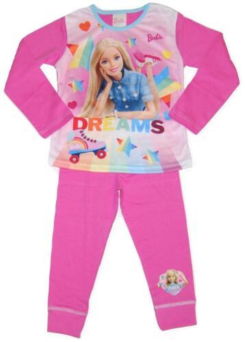 Girls Kids Barbie Long Pyjama Set Pjs Pajamas