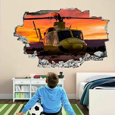 Military Air Force Transport Helicopter Wall Sticker Mural Decal ...