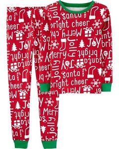 NWT Carter/'s Christmas Pajama Set Snug Girls Red 4T,5,6,8,10