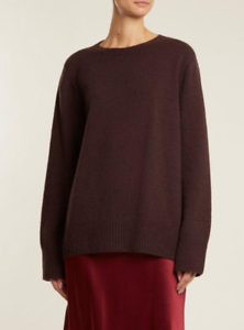 NWT  The Row Sibel Wool Cashmere Blend Sweater in Cocoa sz M