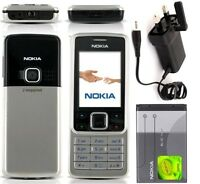 New Condition Nokia Brand 6300 Silver Unlocked Camera Bluetooth Mobile Phone