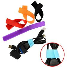 264da6b4ee69 18Pcs Straps Wrap Wire Organizer Cable Tie Rope Holder for Laptop PC TV