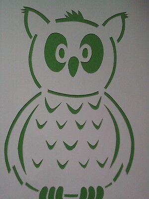 Eule Eulenschablone Schablone Wanddeko Deko Wandschablone Gestaltung Karton
