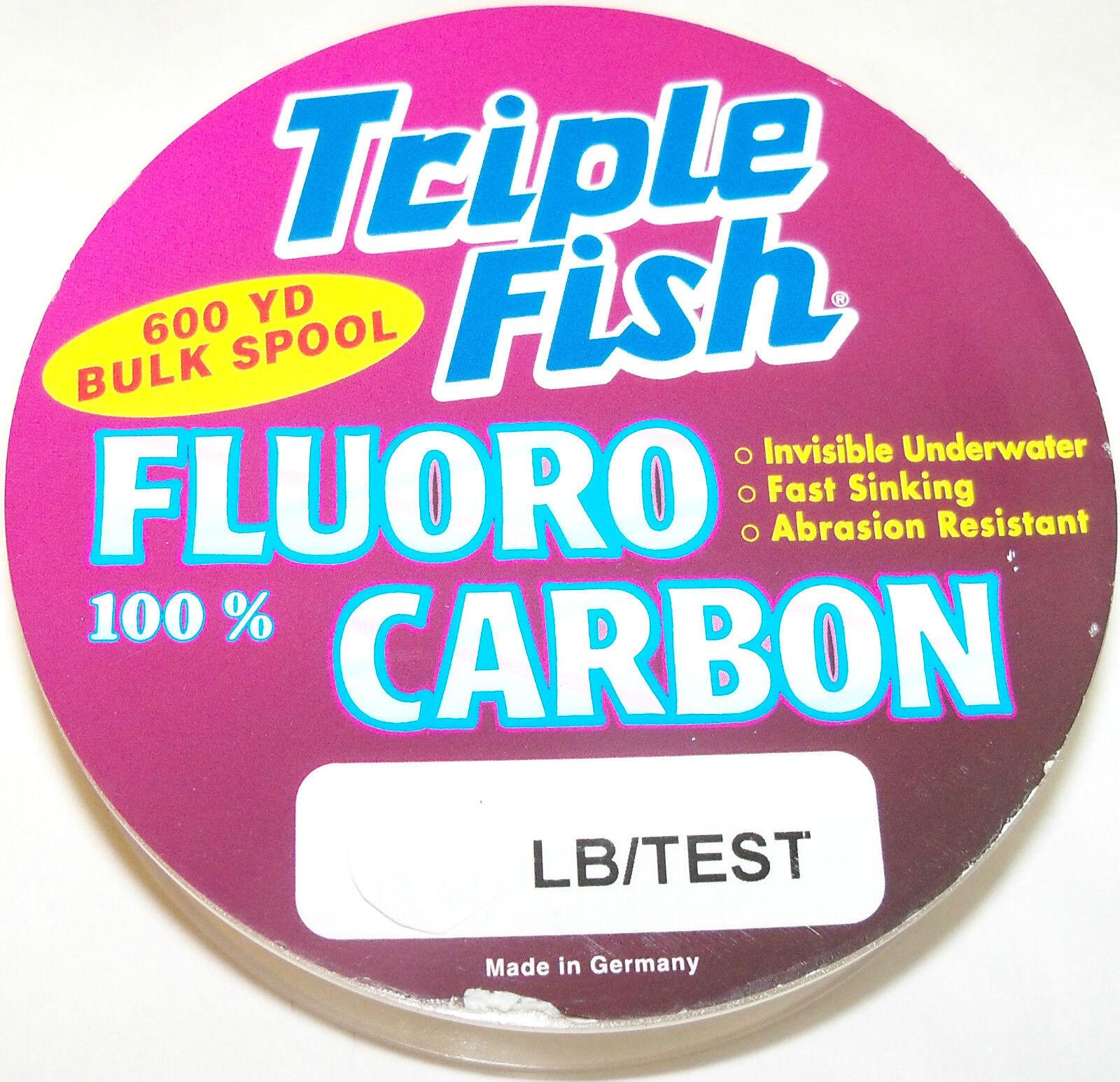 Triple Fish 100% Fluoroautobone Linea 549m Bobina Trasparenti