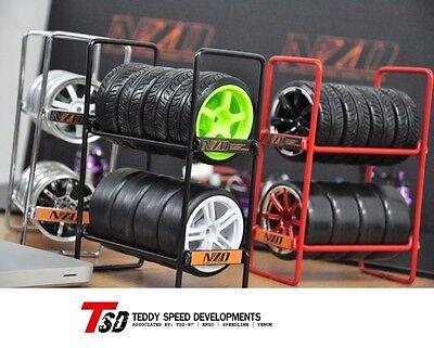 NZO RC Drift Car Tire Rack 1/10 Wheel Rims & Drift Tire Speedline MST HPI Tamiya