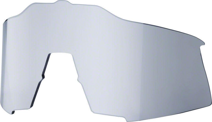 100% Speedcraft Ricambio lungo Lenti: Specchio Nero Nero Nero d41072