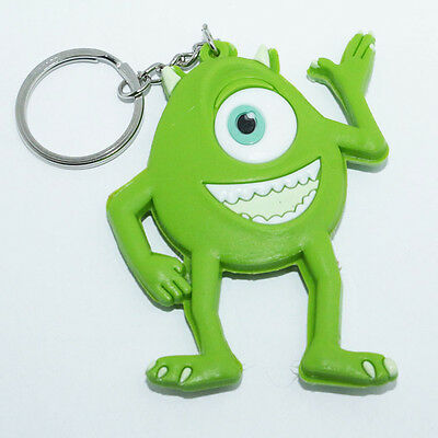 New Green Monsters Mike Wazowski Rubber Silicone Keyring Keychain #R2
