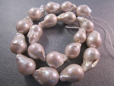 White Baroque Pearl Beads 19pcs