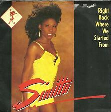 """7A2 used vinyl 7"""" SINITTA RIGHT BACK WHERE WE STARTED FROM - I JUST CAN'T HELP I"""