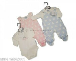 BNWT-Baby-Baby-Boy-or-Girl-Clothes-2-Piece-dungaree-Set