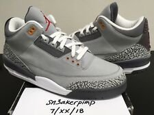 86647a131d4a37 2007 NIKE AIR JORDAN III 3 RETRO LS SILVER RED COOL GREY WHITE BLACK CEMENT  14