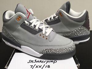 VNDS Worn 1x Nike Air Jordan Retro 3 III Cool Grey Cement Size 14 ... 0a761f754