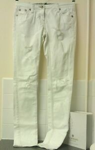 """RIVER ISLAND"" Excellent Condition..White..Ripped..Skinny Jeans..size 8 x 34L.."