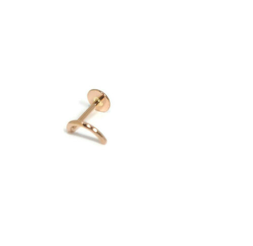18ct Rose Gold rounded dome Nose Stud nose Pin nose Ring Handmade 3.5mm