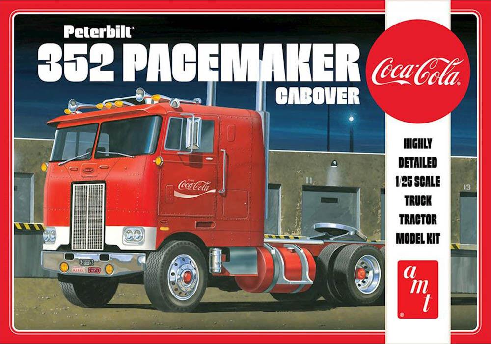 Peterbilt 352 Pacemaker Cabover Coca Cola Camion 1:25 Amt Modello Kit AMT1090