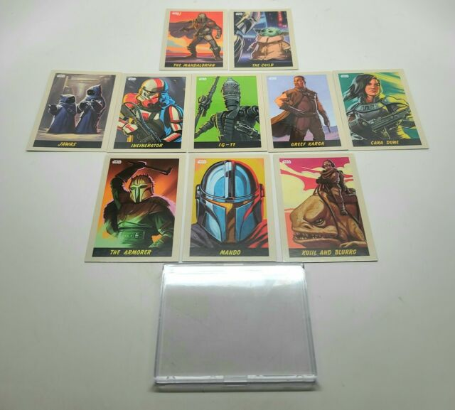 2020 Topps Star Wars The MANDALORIAN eBay EXCLUSIVE LIMITED EDITION 10 Card SET