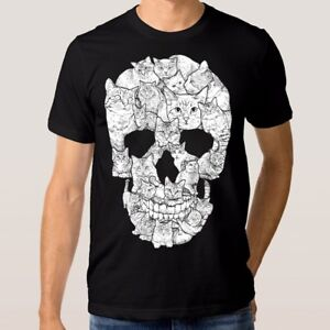Skull-Of-Cats-Brutal-Funny-T-Shirt-Men-039-s-Women-039-s-All-Sizes