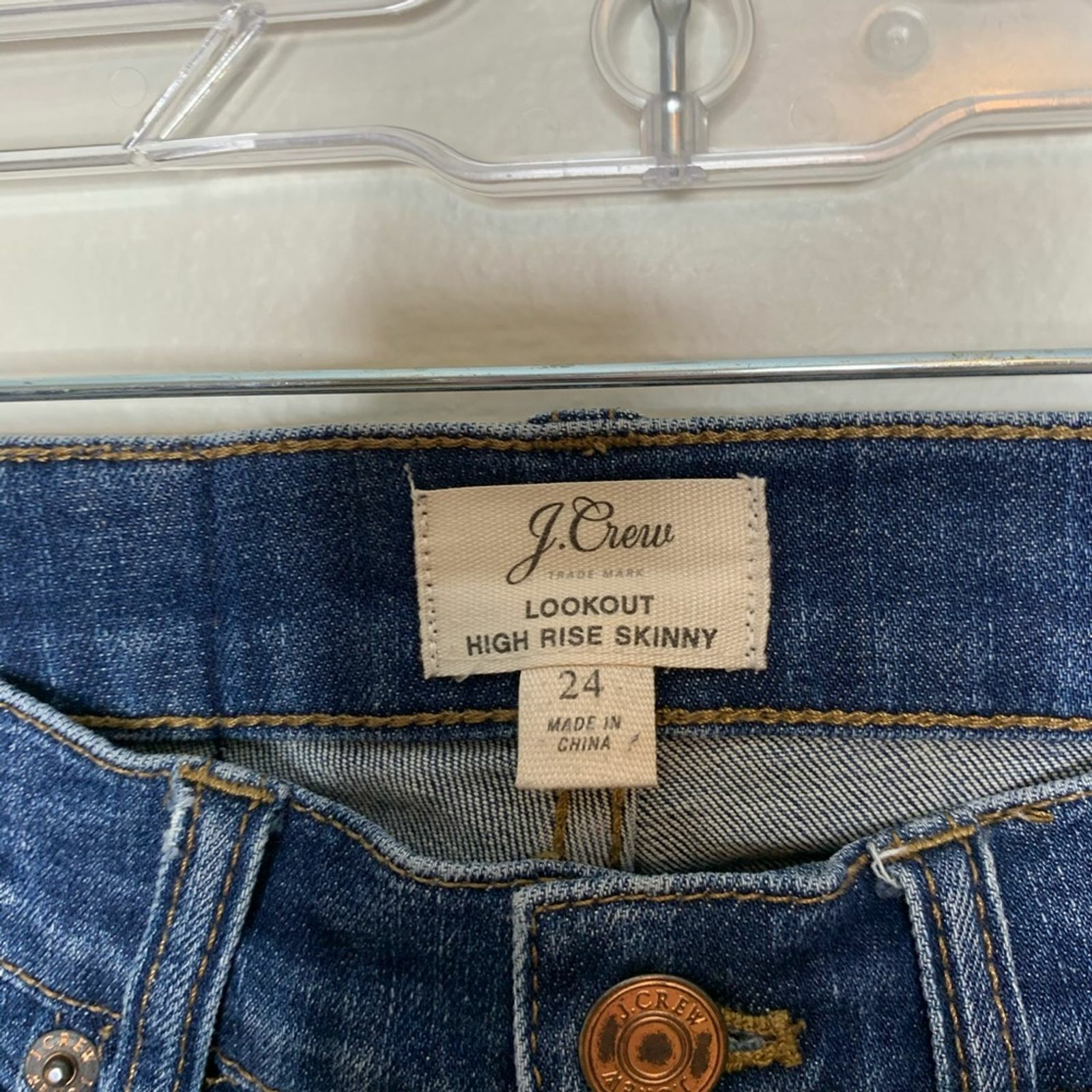 J. Crew Lookout High Rise Skinny Jean Travers Wash - image 6