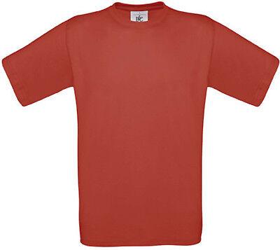 100% Vero Tee-shirt Enfant B&c Rouge 100% Coton - Cg149 In Vendita