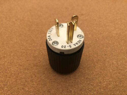 Genuine Hubbell Plug 20A 125V 2P 3 Wire Grounding NEMA 5-20P