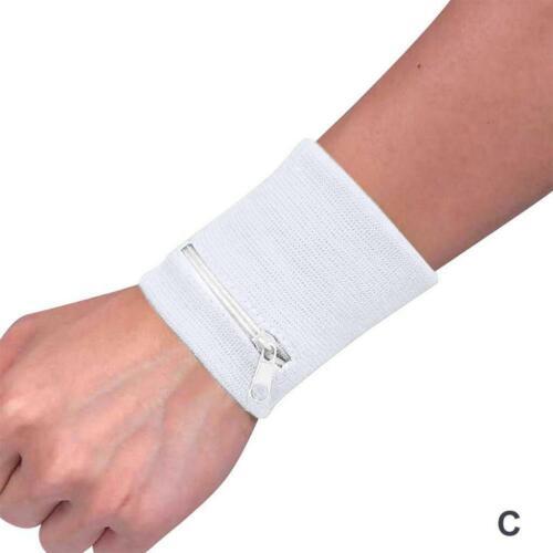 Wrist Wallet Pouch Band Zipper Running Travel Gym Cycling Safe Sport Bag 8 x 8cm