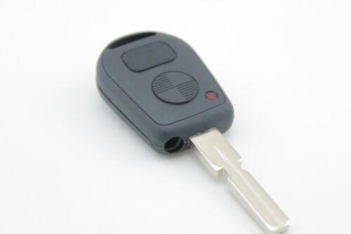 BMW 2 Button Key Remote Case//Shell//Blank 3-5-7 SERIES X3 X5 Z4 E38 E39 E46 M5 M3