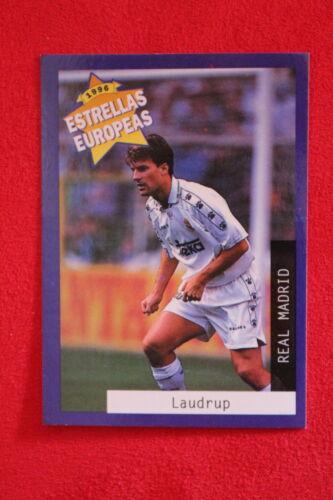 4 LAUDRUP REAL MADRID  MINT!!! PANINI ESTRELLAS EUROPEAS 1996  N