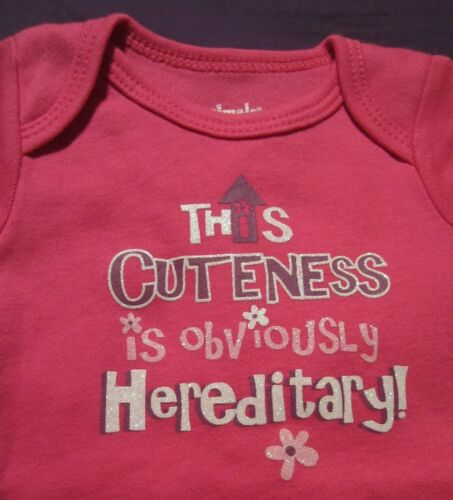 New Pink Baby/'s 1st First St Saint Patrick/'s Day THIS CUTENESS Onesie NB 18