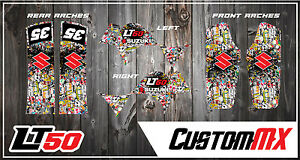 SUZUKI LT50 LTA50 GRAPHIC KIT STICKERS QUAD DECALS GRAPHICS LT50 A LTA 50