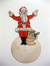 Vintage 1920s Christmas Santa Bridge Tally Place Card with Stand By Buzza