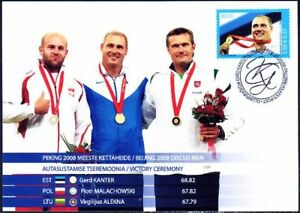Estonia-Gerd-Kanter-Olympic-Winner-Beijing-Discus-Gold-Medal-Mint-Maxi-Card-2008