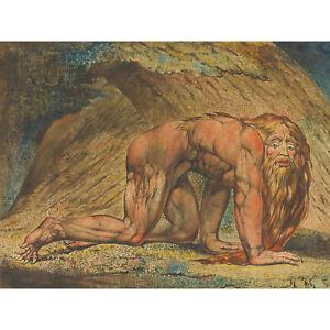 Blake-Nebuchadnezzar-Mad-King-Biblical-Painting-XL-Wall-Art-Canvas-Print