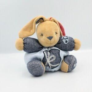 Doudou-lapin-bleu-jean-rouge-Denim-KALOO-Lapin-Classique