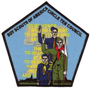 Boy-Scout-2013-Jamboree-Circle-Ten-Council-BSA-Center-Jacket-Patch-Badge-No-JSP
