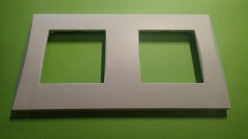 Plaque Double ALVAIS Design Blanc 71mm occ SCHNEIDER ALB81271 ou ALB 81271