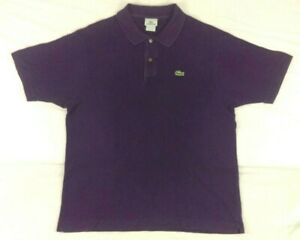 Lacoste-Mens-Short-Sleeve-Polo-Shirt-Purple-Size-6