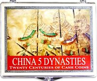 China 5 Dynasties,Twenty Centuries of 5 Cash Coins  In New Clear Display Box