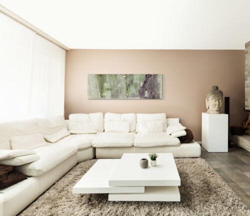 Leinwandbild Panorama grün grau braun Paul Sinus Abstrakt/_599/_150x50cm