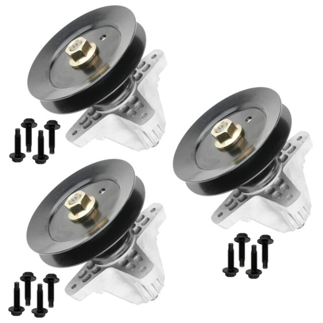 3 Spindle Assembly W//Pulley Bolt for Troy Bilt Mustang 54 XP 2013-2014