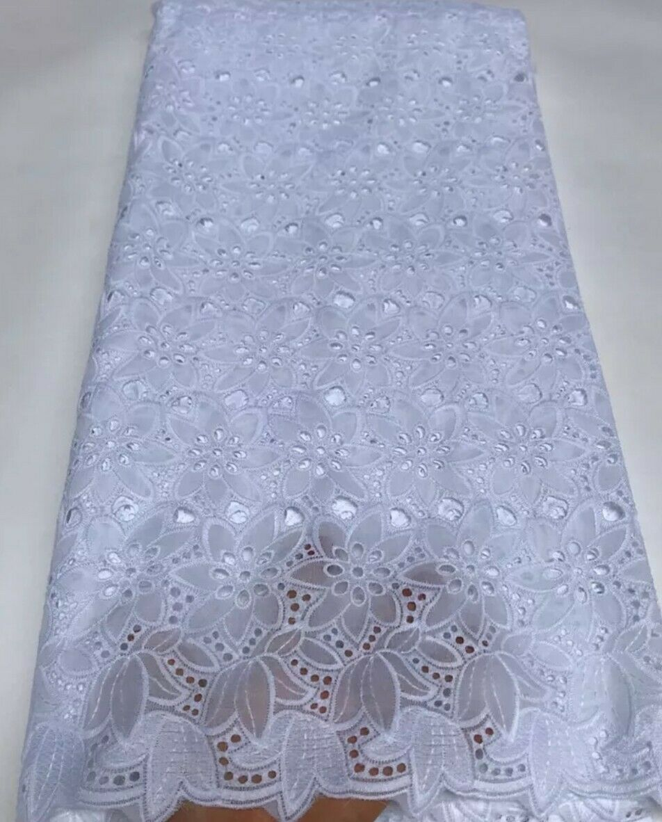 Elegant African Wedding Swiss Voile Lace Fabric High Quality