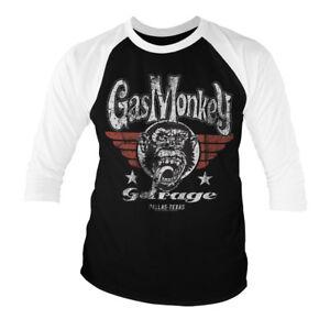 Gas Monkey Garage Officielle Sang Sueur Bi/ères T Shirt Noir pour Hommes